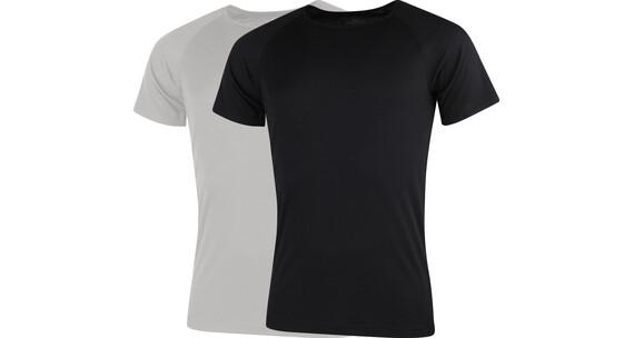 Stuf Riga-M 2er Pack T-Shirts Herren schwarz/anthrazit melange